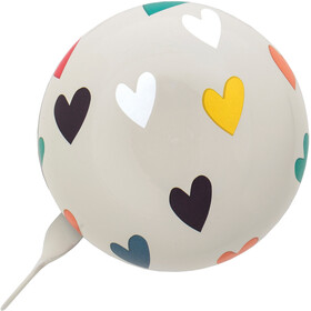 URBAN PROOF Ding Dong Bell 8cm Confetti Hearts Grey